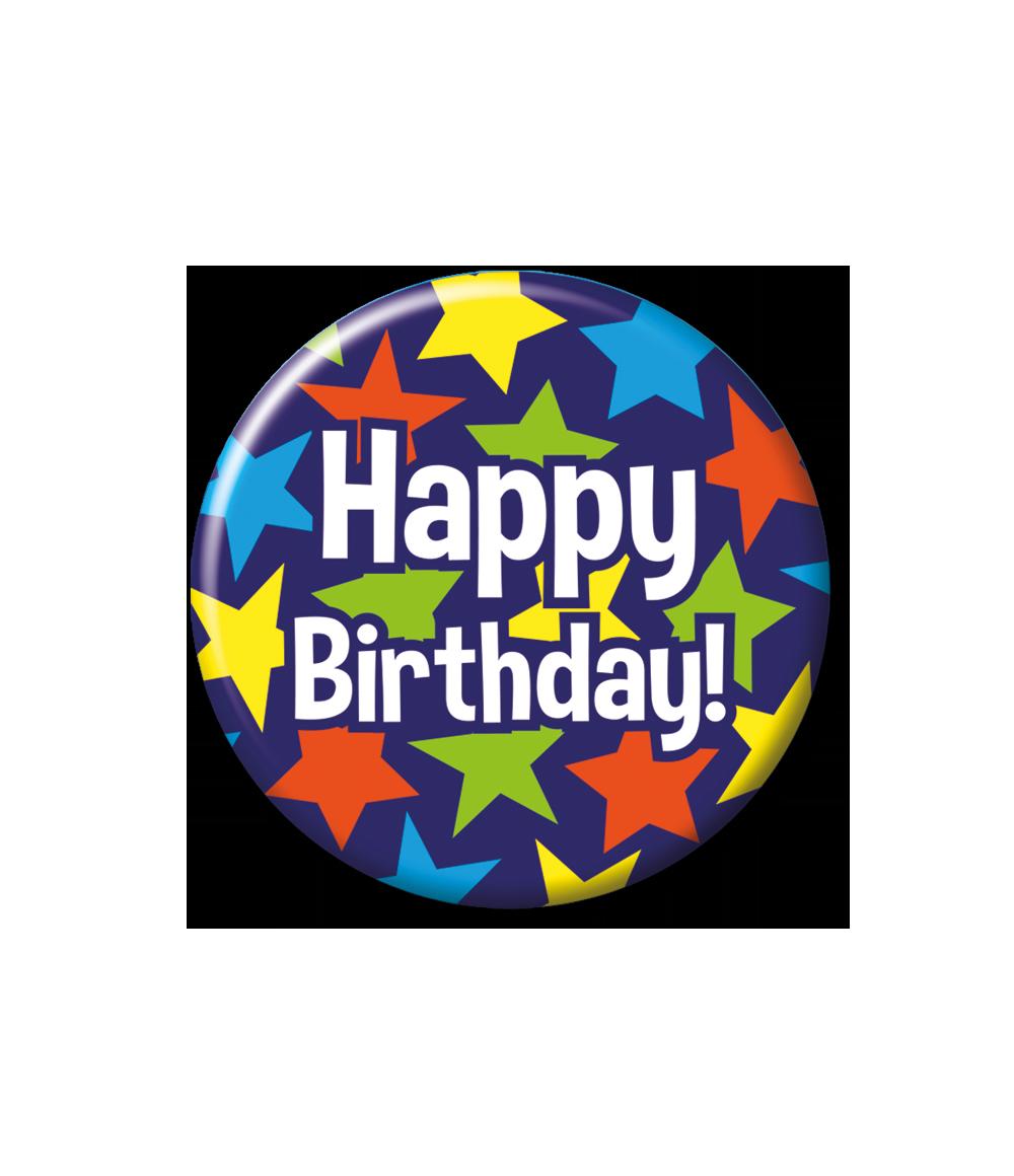 Button Happy Birthday Sterren 5.5cm