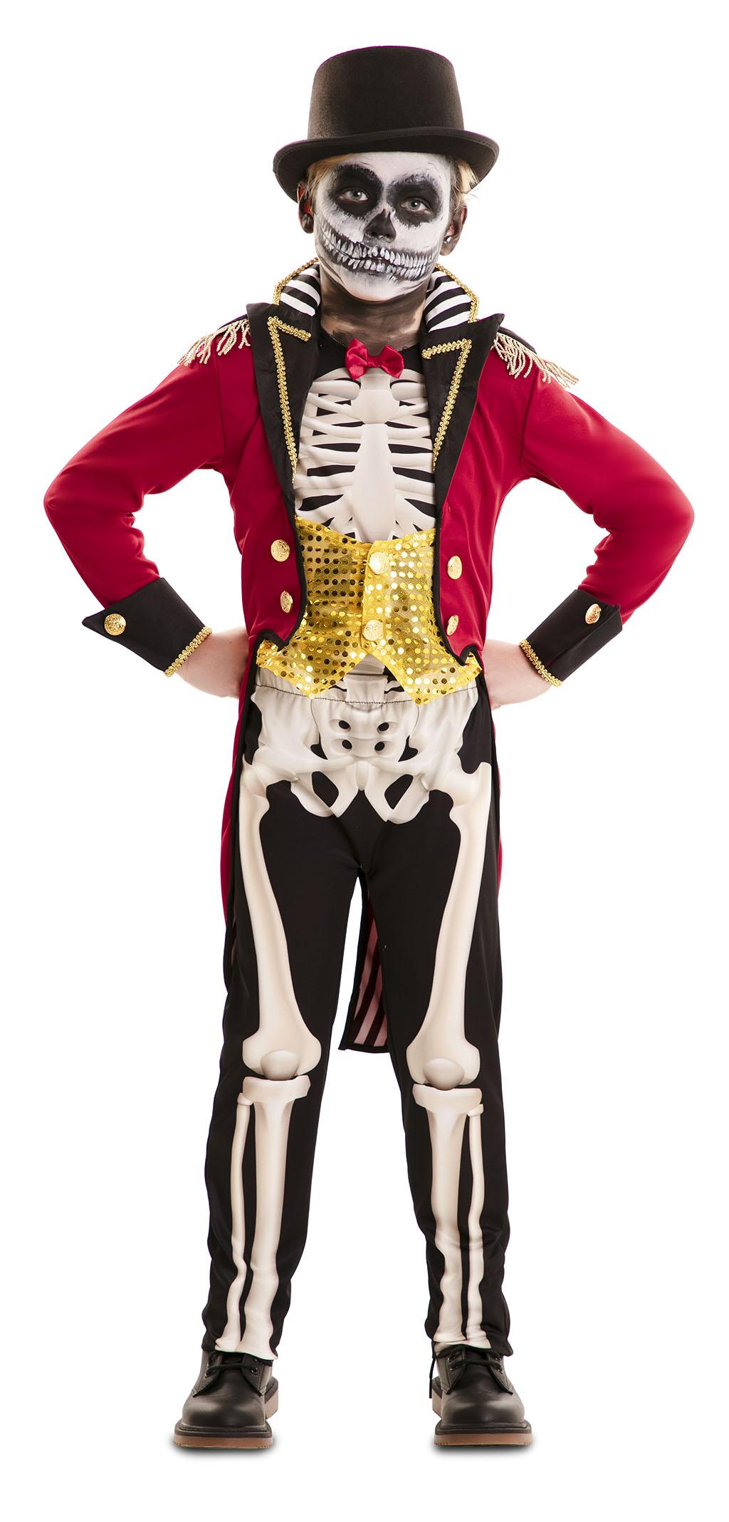 Kostuum Circusartiest Skelet Jongen