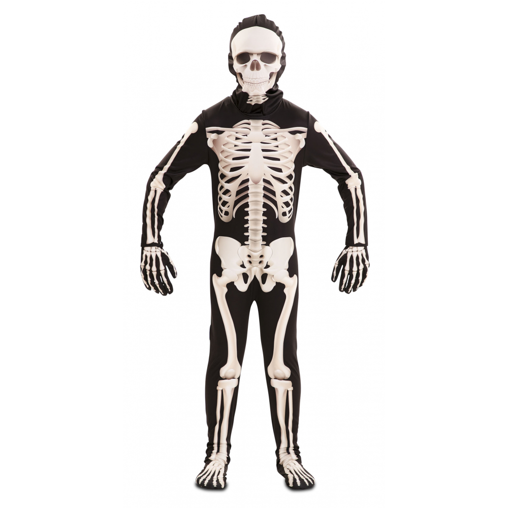 Kostuum Jumpsuit Skelet Deluxe Kind